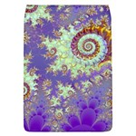 Sea Shell Spiral, Abstract Violet Cyan Stars Removable Flap Cover (Large)