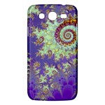 Sea Shell Spiral, Abstract Violet Cyan Stars Samsung Galaxy Mega 5.8 I9152 Hardshell Case