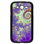 Sea Shell Spiral, Abstract Violet Cyan Stars Samsung Galaxy Grand DUOS I9082 Case (Black)