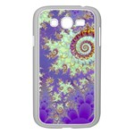 Sea Shell Spiral, Abstract Violet Cyan Stars Samsung Galaxy Grand DUOS I9082 Case (White)