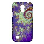 Sea Shell Spiral, Abstract Violet Cyan Stars Samsung Galaxy S4 Mini (GT-I9190) Hardshell Case