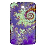 Sea Shell Spiral, Abstract Violet Cyan Stars Samsung Galaxy Tab 3 (7 ) P3200 Hardshell Case