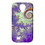 Sea Shell Spiral, Abstract Violet Cyan Stars Samsung Galaxy S4 Classic Hardshell Case (PC+Silicone)