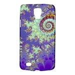 Sea Shell Spiral, Abstract Violet Cyan Stars Samsung Galaxy S4 Active (I9295) Hardshell Case