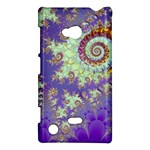 Sea Shell Spiral, Abstract Violet Cyan Stars Nokia Lumia 720 Hardshell Case