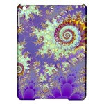 Sea Shell Spiral, Abstract Violet Cyan Stars Apple iPad Air Hardshell Case