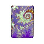 Sea Shell Spiral, Abstract Violet Cyan Stars Apple iPad Mini 2 Hardshell Case