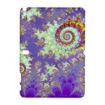 Sea Shell Spiral, Abstract Violet Cyan Stars Samsung Galaxy Note 10.1 (P600) Hardshell Case