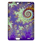 Sea Shell Spiral, Abstract Violet Cyan Stars Kindle Fire HD 7  (2nd Gen) Hardshell Case