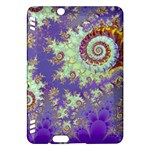 Sea Shell Spiral, Abstract Violet Cyan Stars Kindle Fire HDX 7  Hardshell Case