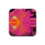 Magenta Boardwalk Carnival, Abstract Ocean Shimmer Drink Coaster (Square)
