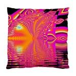 Magenta Boardwalk Carnival, Abstract Ocean Shimmer Cushion Case (Single Sided)