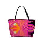 Magenta Boardwalk Carnival, Abstract Ocean Shimmer Large Shoulder Bag