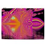 Magenta Boardwalk Carnival, Abstract Ocean Shimmer Cosmetic Bag (XXL)