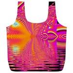Magenta Boardwalk Carnival, Abstract Ocean Shimmer Reusable Bag (XL)