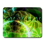 Dawn Of Time, Abstract Lime & Gold Emerge Small Mouse Pad (Rectangle)