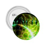 Dawn Of Time, Abstract Lime & Gold Emerge 2.25  Button