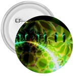 Dawn Of Time, Abstract Lime & Gold Emerge 3  Button