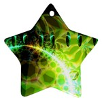 Dawn Of Time, Abstract Lime & Gold Emerge Star Ornament