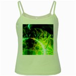 Dawn Of Time, Abstract Lime & Gold Emerge Green Spaghetti Tank