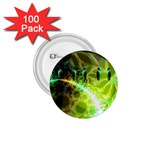 Dawn Of Time, Abstract Lime & Gold Emerge 1.75  Button (100 pack)