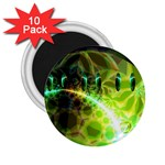 Dawn Of Time, Abstract Lime & Gold Emerge 2.25  Button Magnet (10 pack)