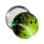 Dawn Of Time, Abstract Lime & Gold Emerge Handbag Mirror (2.25 )
