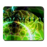 Dawn Of Time, Abstract Lime & Gold Emerge Large Mouse Pad (Rectangle)