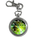 Dawn Of Time, Abstract Lime & Gold Emerge Key Chain Watch