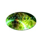 Dawn Of Time, Abstract Lime & Gold Emerge Sticker (Oval)