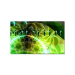 Dawn Of Time, Abstract Lime & Gold Emerge Sticker (Rectangle)