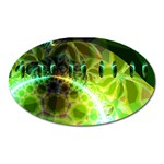 Dawn Of Time, Abstract Lime & Gold Emerge Magnet (Oval)