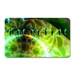 Dawn Of Time, Abstract Lime & Gold Emerge Magnet (Rectangular)