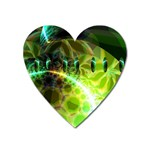 Dawn Of Time, Abstract Lime & Gold Emerge Magnet (Heart)
