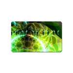 Dawn Of Time, Abstract Lime & Gold Emerge Magnet (Name Card)