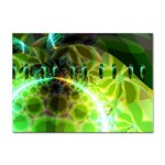 Dawn Of Time, Abstract Lime & Gold Emerge A4 Sticker 100 Pack