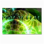 Dawn Of Time, Abstract Lime & Gold Emerge Postcard 5  x 7