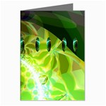 Dawn Of Time, Abstract Lime & Gold Emerge Greeting Card
