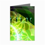 Dawn Of Time, Abstract Lime & Gold Emerge Mini Greeting Card
