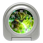 Dawn Of Time, Abstract Lime & Gold Emerge Desk Alarm Clock
