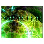 Dawn Of Time, Abstract Lime & Gold Emerge Jigsaw Puzzle (Rectangle)