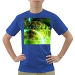 Dawn Of Time, Abstract Lime & Gold Emerge Men s T-shirt (Colored)