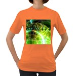 Dawn Of Time, Abstract Lime & Gold Emerge Women s T-shirt (Colored)