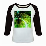 Dawn Of Time, Abstract Lime & Gold Emerge Kids Long Cap Sleeve T-Shirt