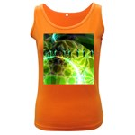 Dawn Of Time, Abstract Lime & Gold Emerge Women s Tank Top (Dark Colored)