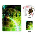 Dawn Of Time, Abstract Lime & Gold Emerge Playing Cards Single Design