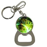 Dawn Of Time, Abstract Lime & Gold Emerge Bottle Opener Key Chain