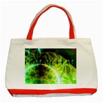 Dawn Of Time, Abstract Lime & Gold Emerge Classic Tote Bag (Red)