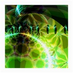 Dawn Of Time, Abstract Lime & Gold Emerge Glasses Cloth (Medium)