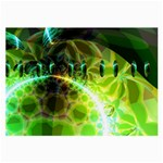 Dawn Of Time, Abstract Lime & Gold Emerge Glasses Cloth (Large, Two Sided)